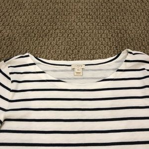 J. Crew Tops - J. Crew XS Navy and White 3/4 Sleeve Top